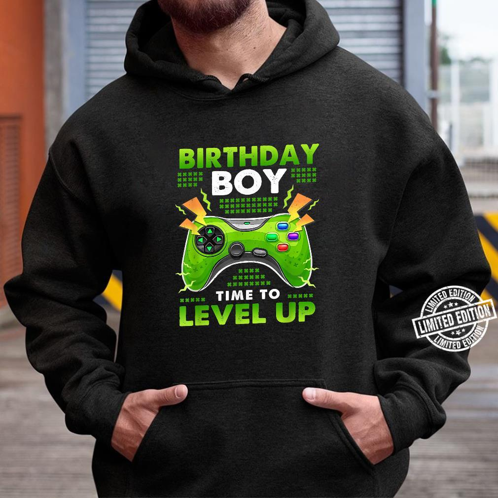 Birthday Boy Time To Level Up Shirt hoodie