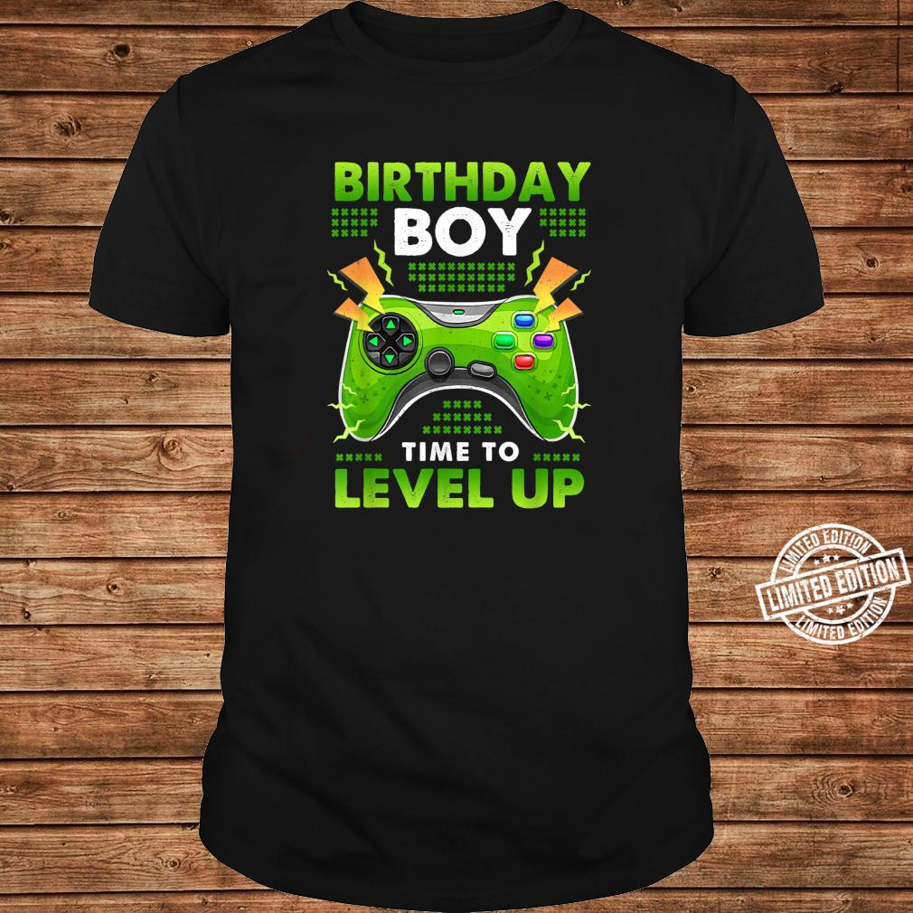 Birthday Boy Time To Level Up Shirt long sleeved
