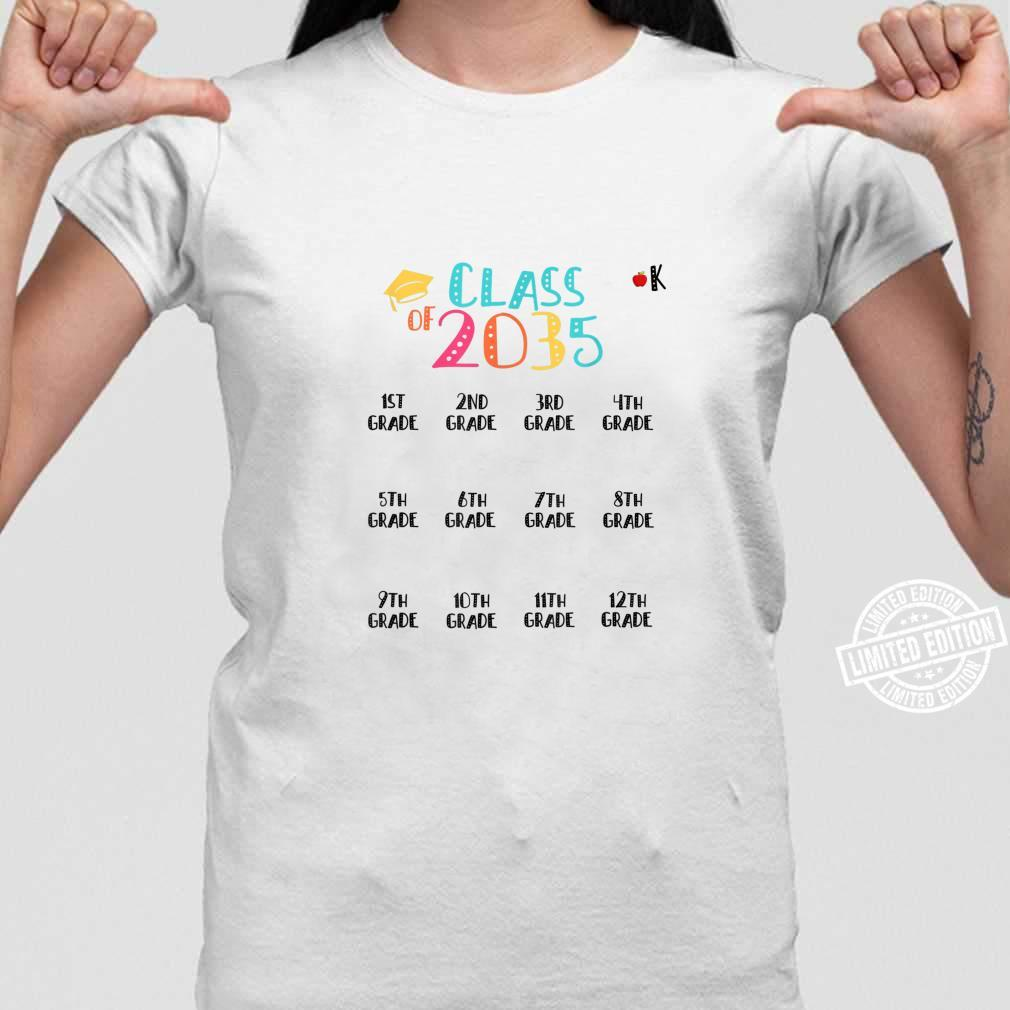 Class of 2035 Grow With Me Shirt With Space For Checkmarks Shirt ladies tee