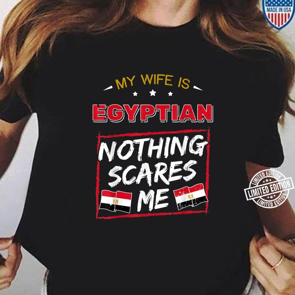 My Wife Is Egyptian Arab Republic of Egypt Roots Flag Pride Shirt ladies tee