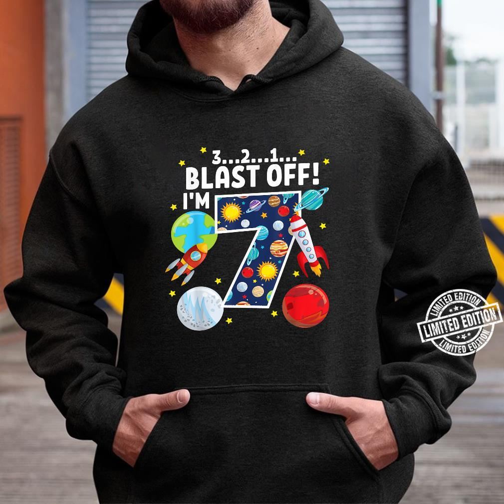 Outer Space 321 Blast Off 7. Geburtstag Party Space Shirt hoodie