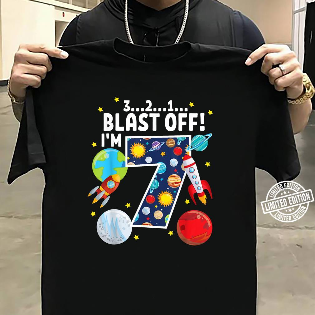 Outer Space 321 Blast Off 7. Geburtstag Party Space Shirt sweater