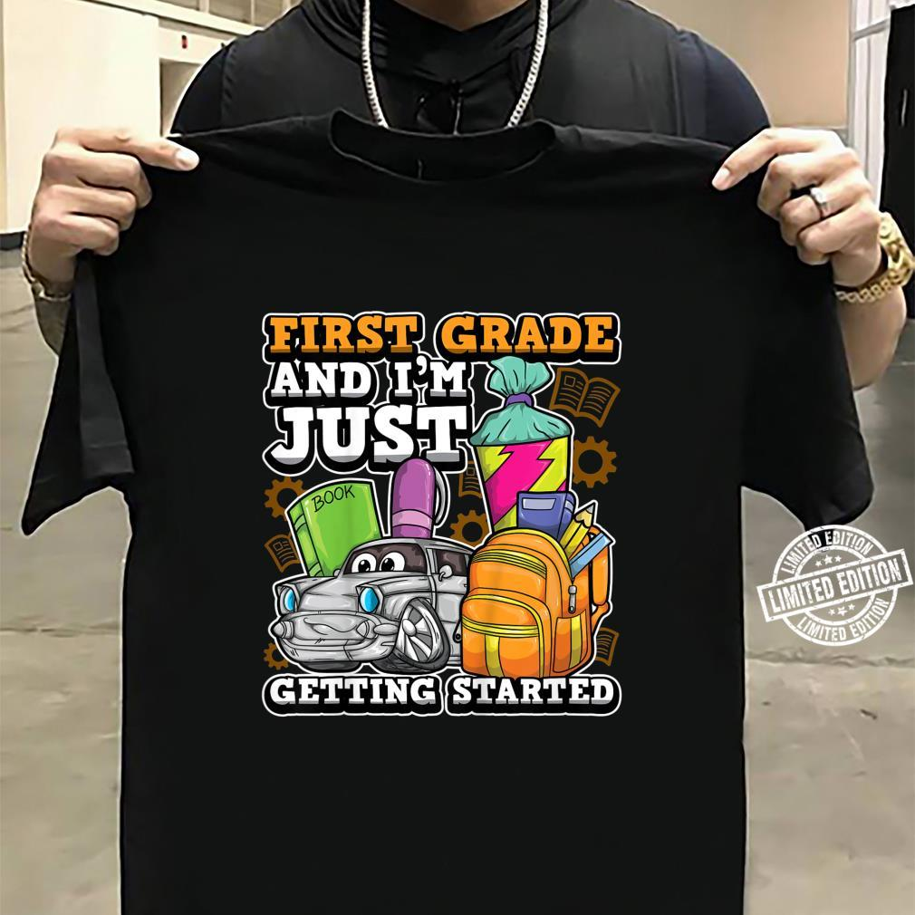 Youth First Grade Car Getting Started 1st Day Of School Shirt sweater